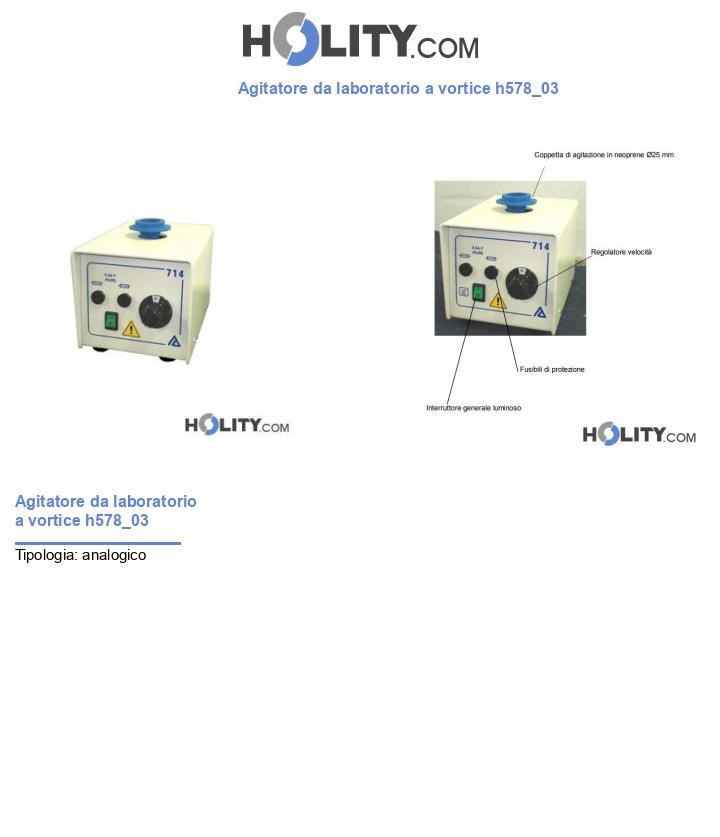 Agitatore da laboratorio a vortice h578_03