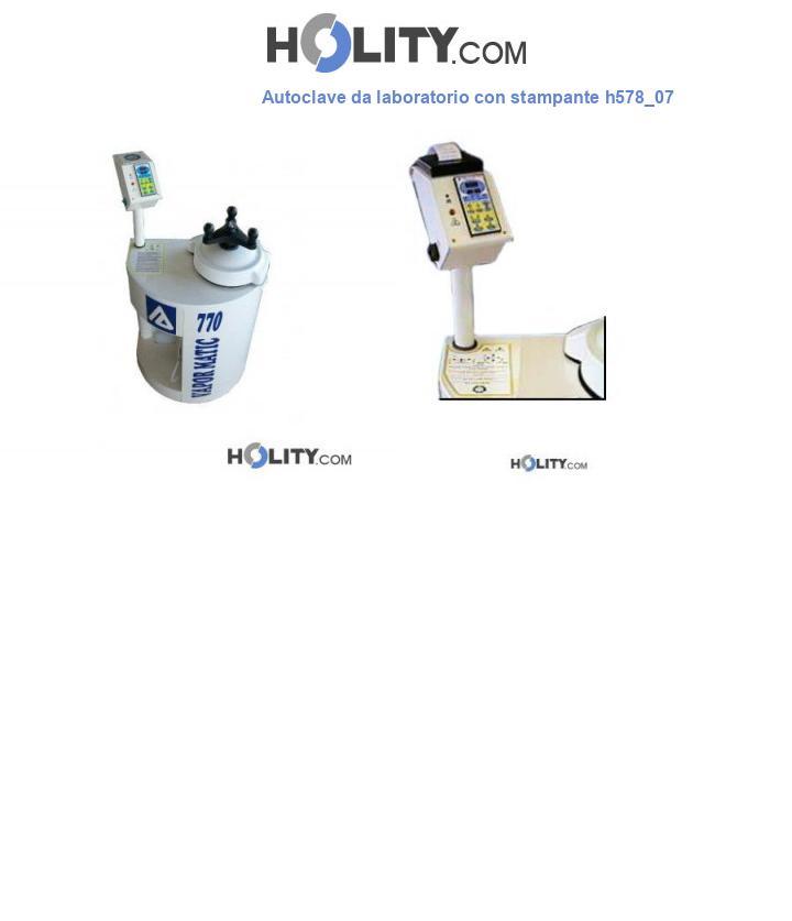 Autoclave da laboratorio con stampante h578_07
