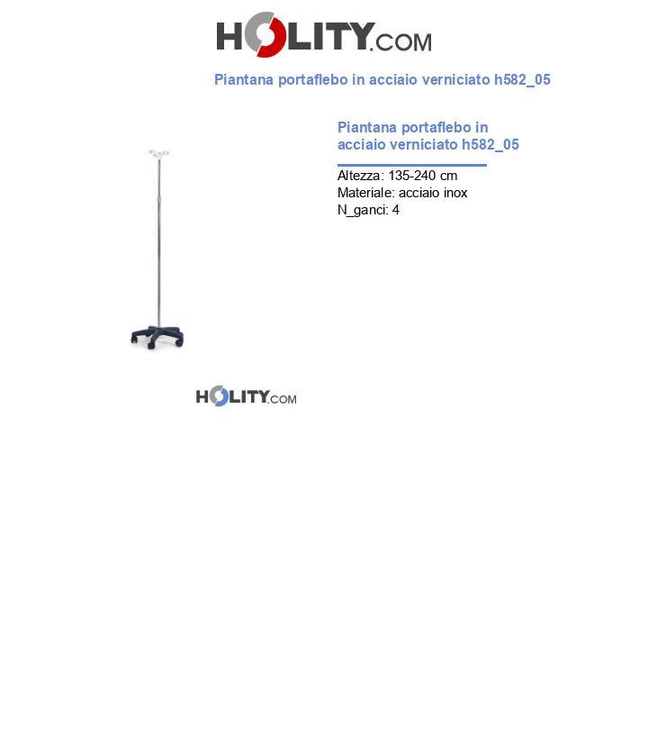 Piantana portaflebo in acciaio verniciato h582_05