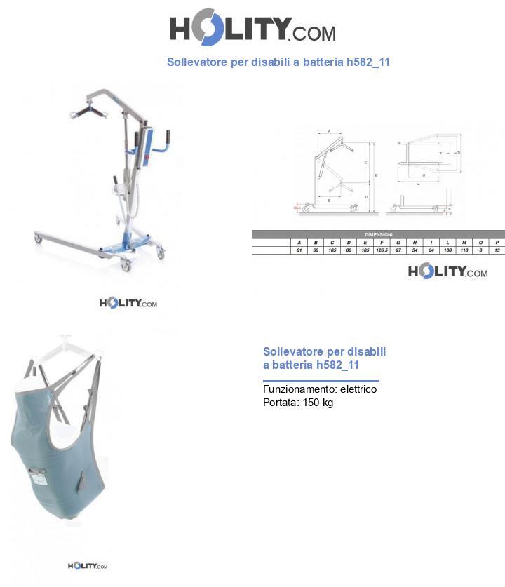 Sollevatore per disabili a batteria h582_11