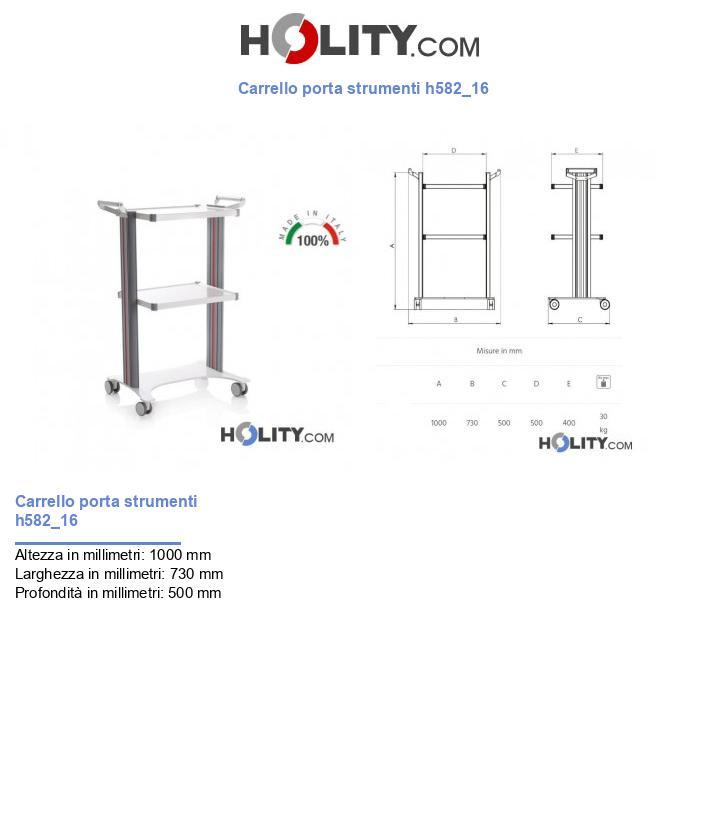 Carrello porta strumenti h582_16