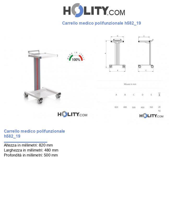 Carrello medico polifunzionale h582_19