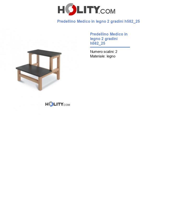 Predellino Medico in legno 2 gradini h582_25