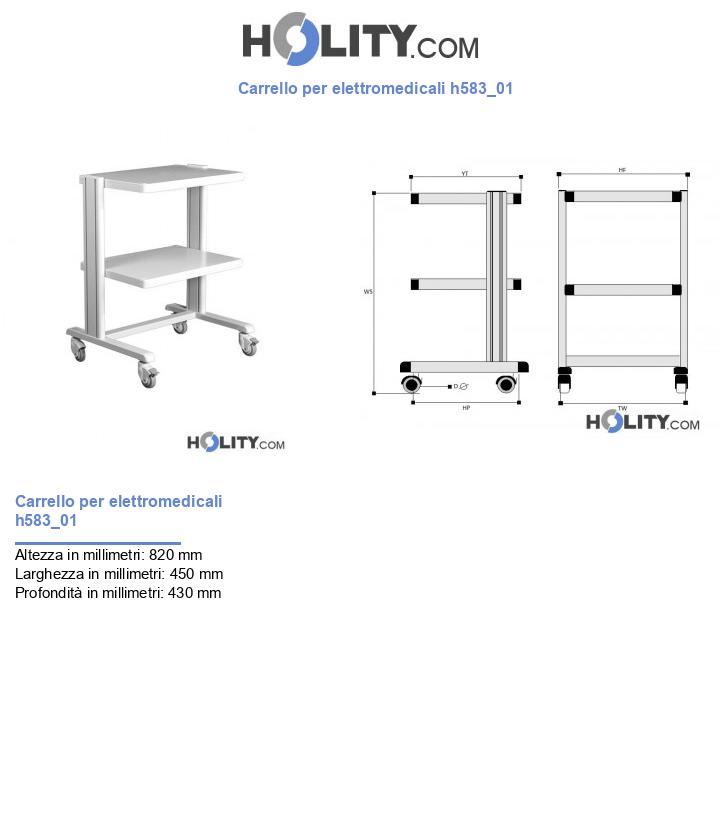Carrello per elettromedicali h583_01