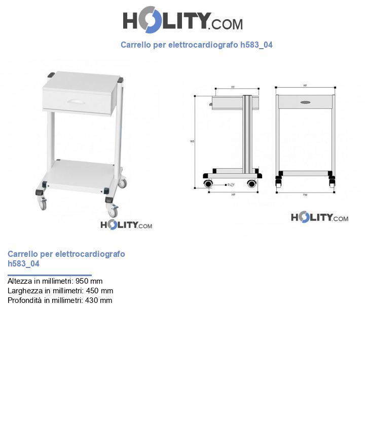 Carrello per elettrocardiografo h583_04