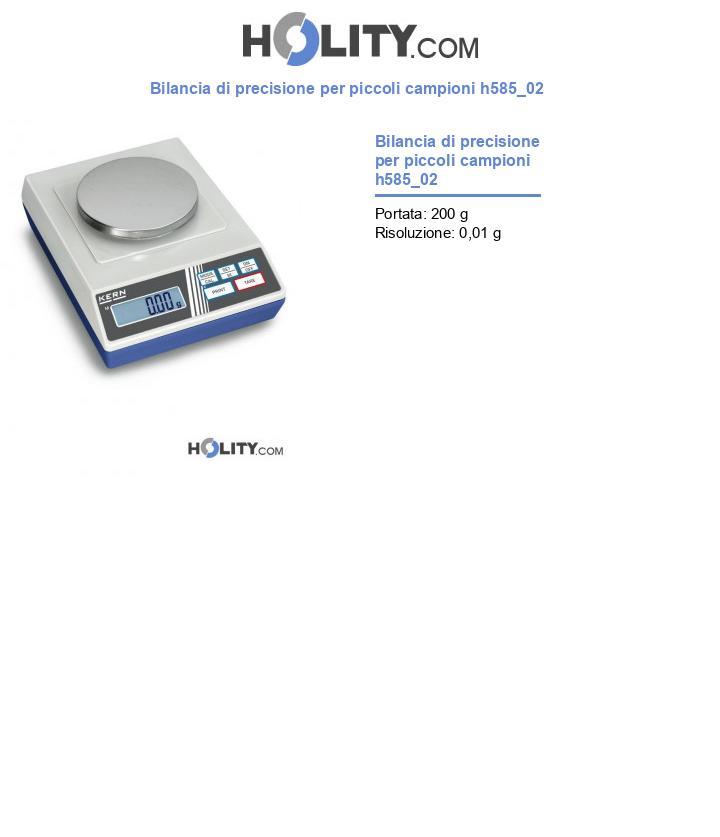 Bilancia di precisione per piccoli campioni h585_02
