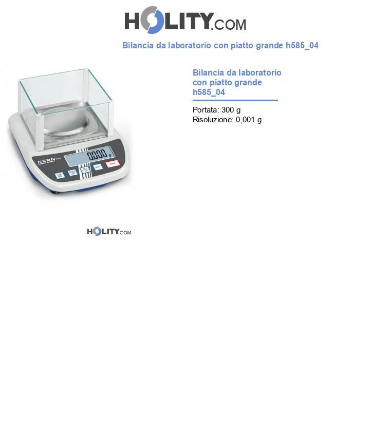 Bilancia da laboratorio con piatto grande h585_04