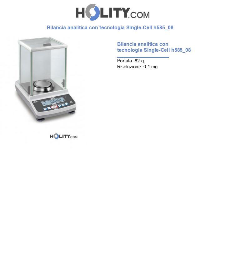 Bilancia analitica con tecnologia Single-Cell h585_08