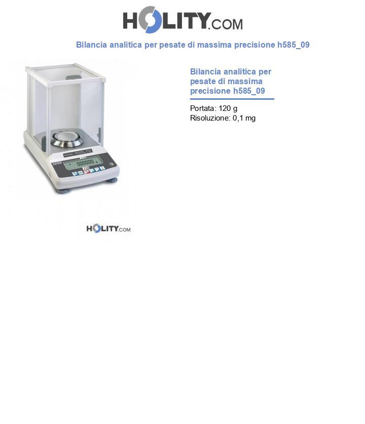 Bilancia analitica per pesate di massima precisione h585_09