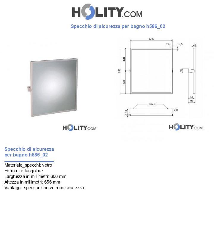 Specchio di sicurezza per bagno h586_02