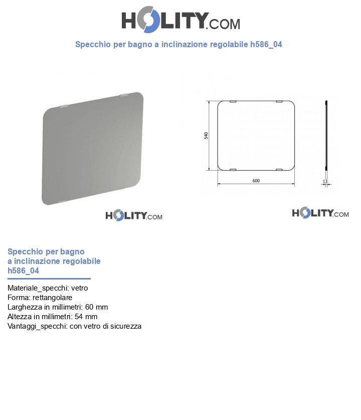 Specchio per bagno a inclinazione regolabile h586_04