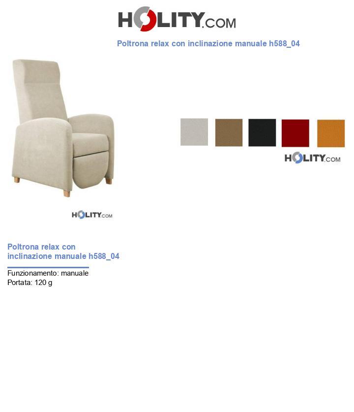 Poltrona relax con inclinazione manuale h588_04