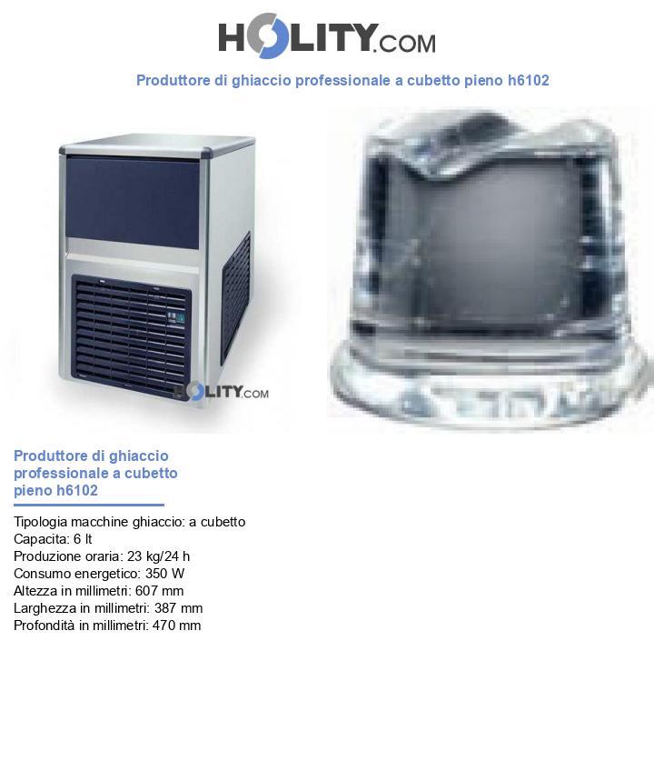 Produttore di ghiaccio professionale a cubetto pieno h6102