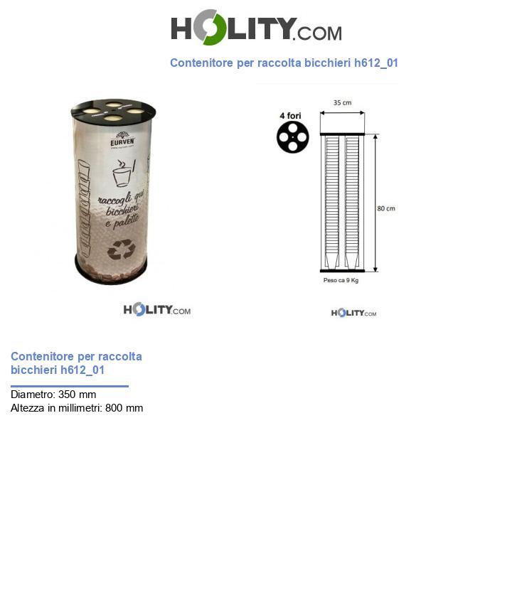 Contenitore per raccolta bicchieri h612_01