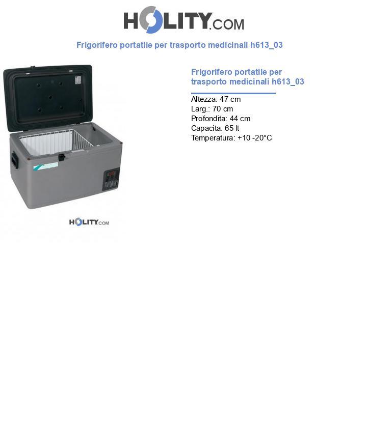 Frigorifero portatile per trasporto medicinali h613_03