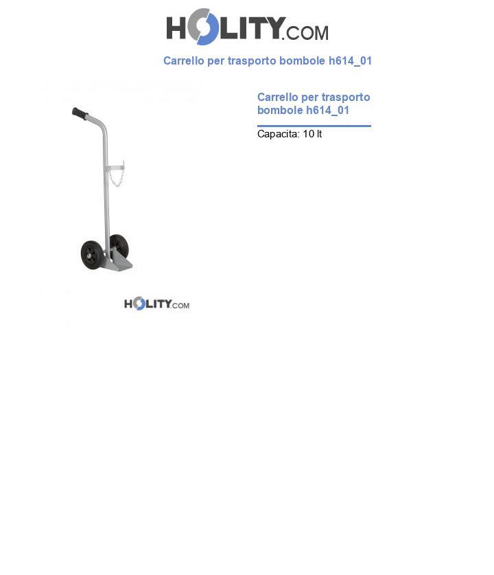 Carrello per trasporto bombole h614_01