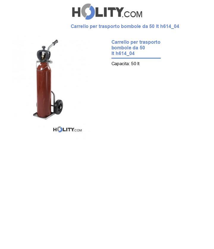Carrello per trasporto bombole da 50 lt h614_04