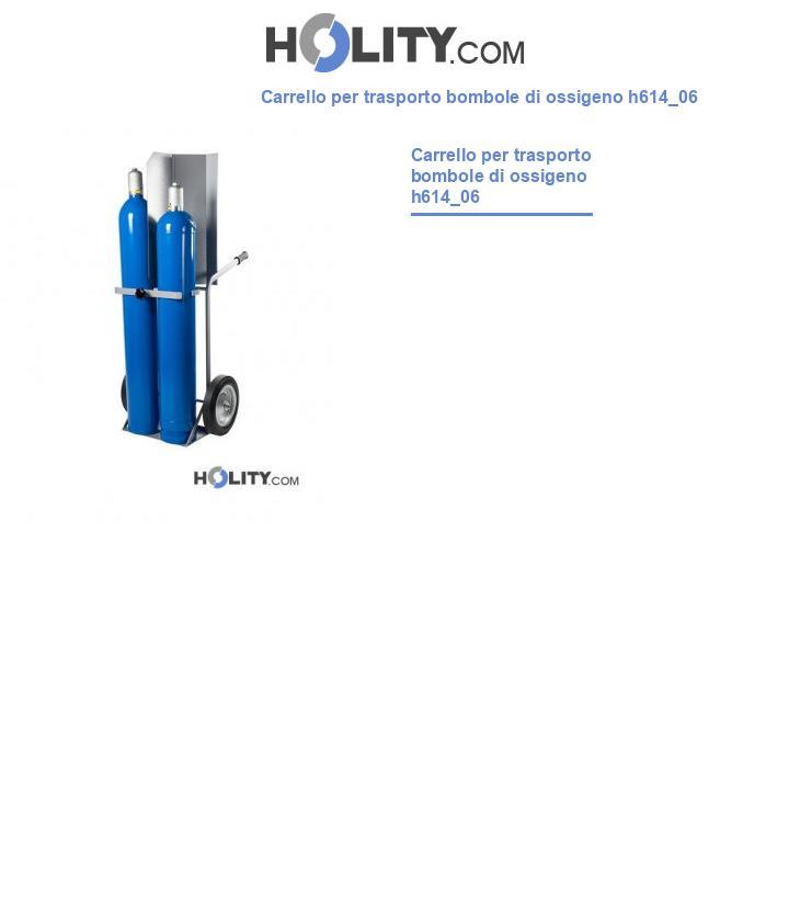 Carrello per trasporto bombole di ossigeno h614_06