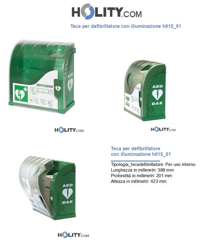 Teca per defibrillatore con illuminazione h615_01