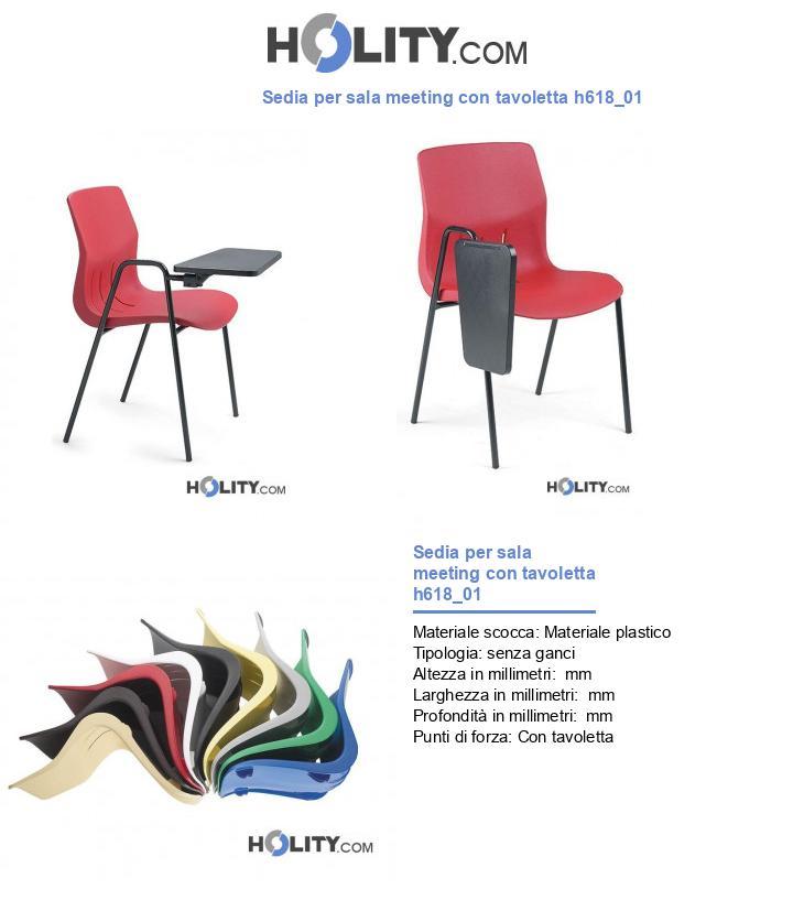 Sedia per sala meeting con tavoletta h618_01
