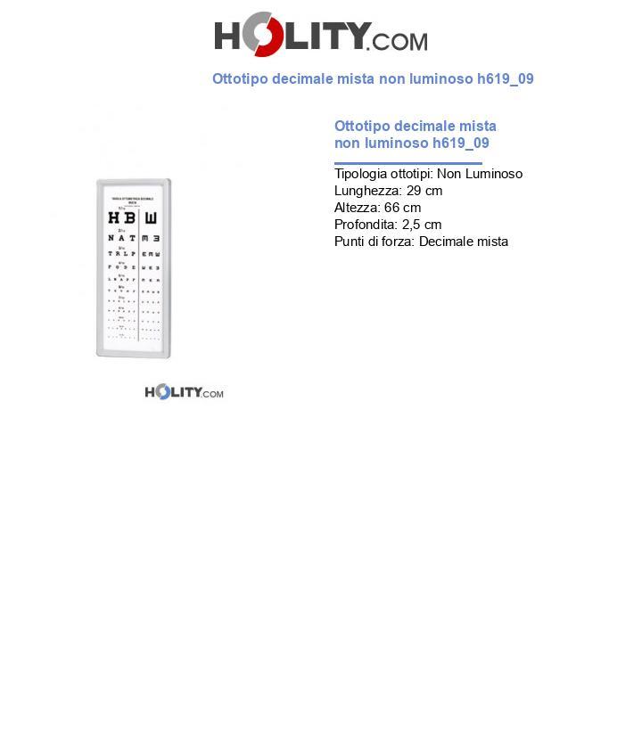 Ottotipo decimale mista non luminoso h619_09