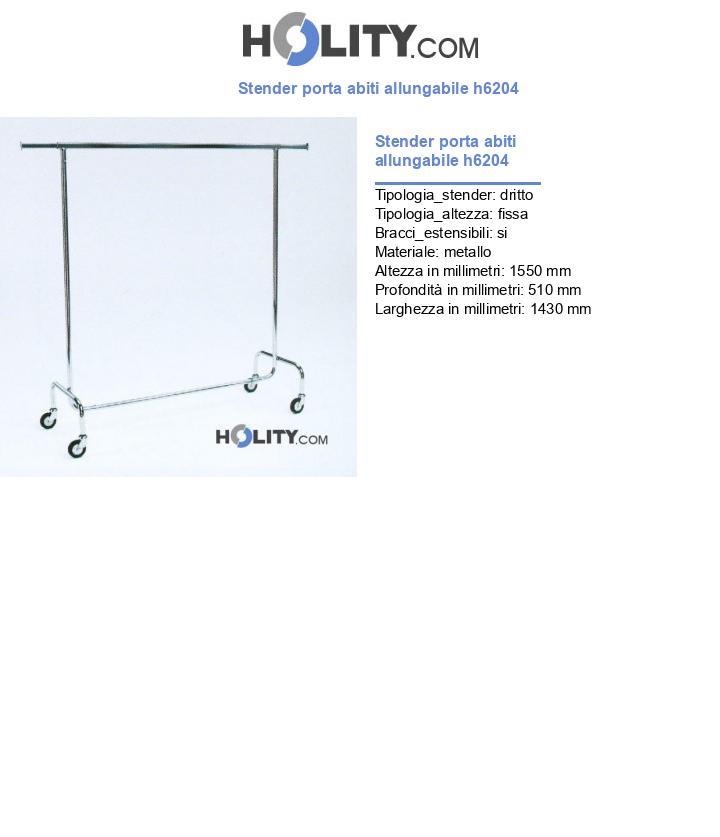 Stender porta abiti allungabile h6204