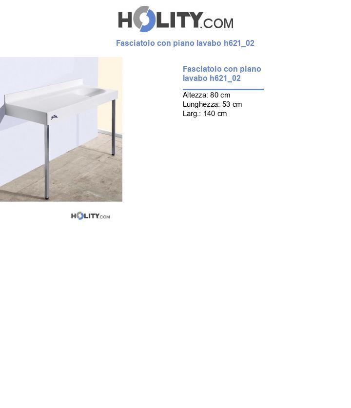 Fasciatoio con piano lavabo h621_02