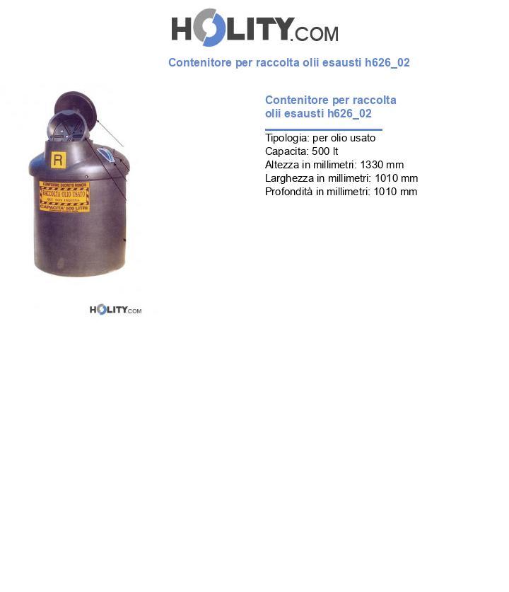 Contenitore per raccolta olii esausti h626_02