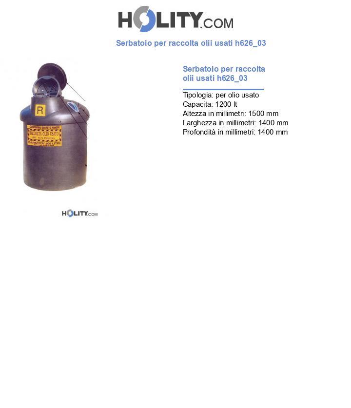 Serbatoio per raccolta olii usati h626_03