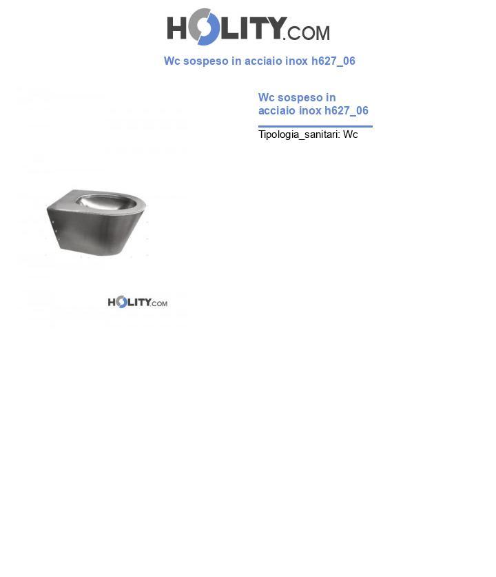 Wc sospeso in acciaio inox h627_06