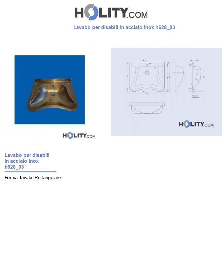 Lavabo per disabili in acciaio inox h628_03