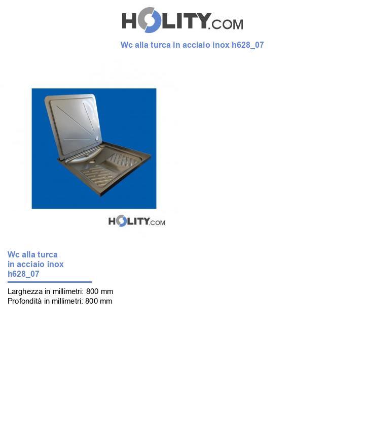 Wc alla turca in acciaio inox h628_07