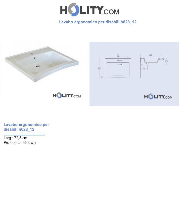 Lavabo ergonomico per disabili h628_12