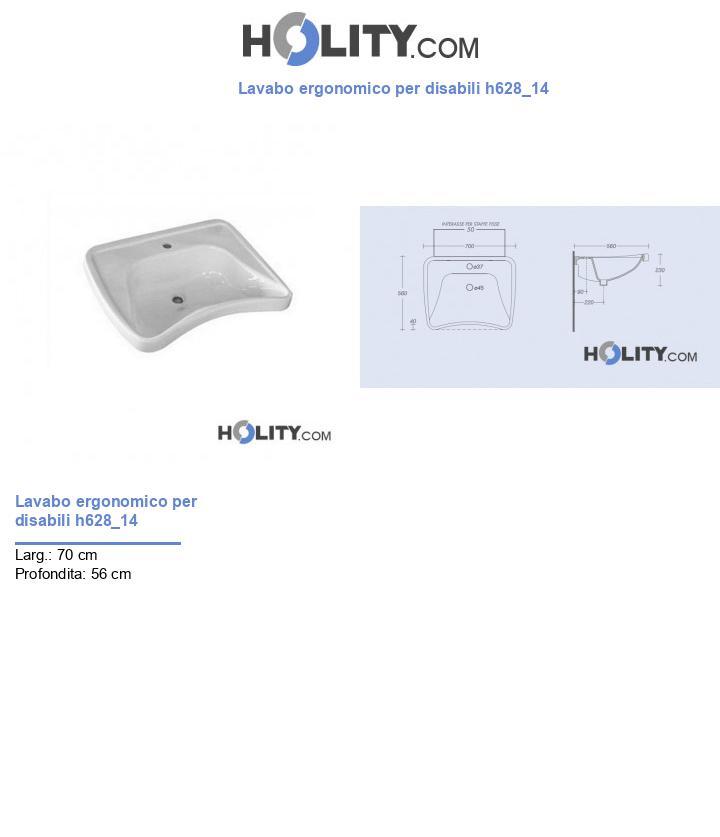 Lavabo ergonomico per disabili h628_14