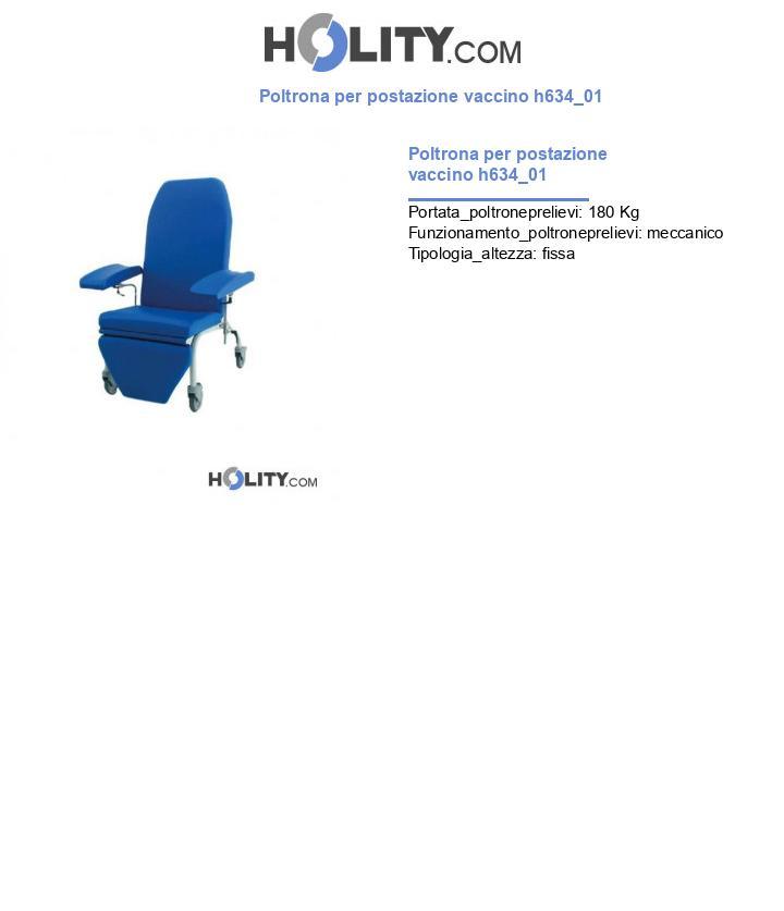 Poltrona per postazione vaccino h634_01