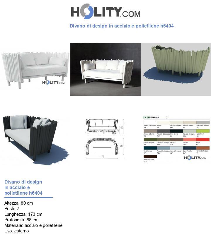 Divano di design in acciaio e polietilene h6404