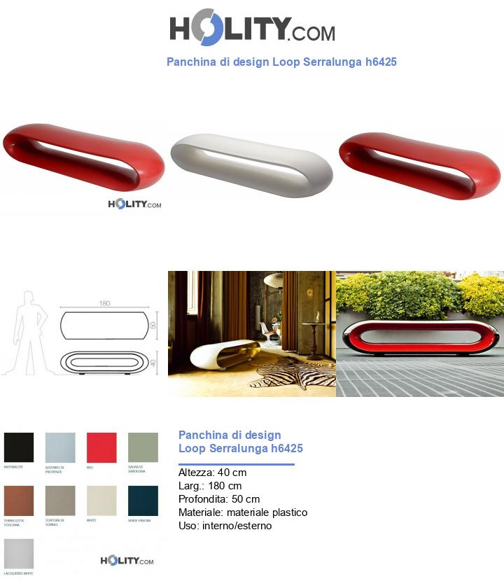 Panchina di design Loop Serralunga h6425