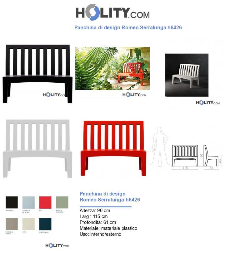 Panchina di design Romeo Serralunga h6426