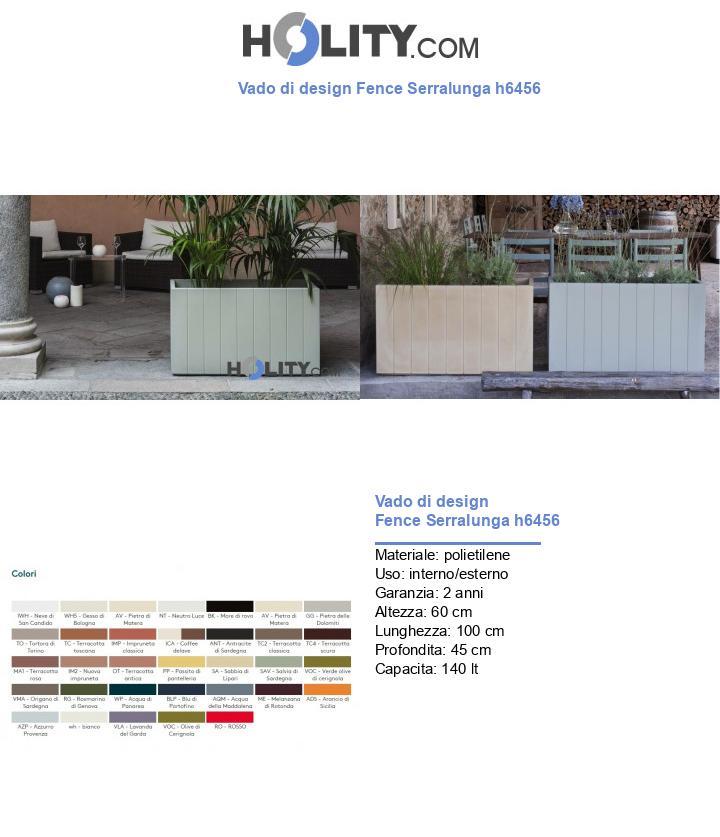 Vado di design Fence Serralunga h6456