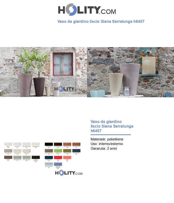 Vaso da giardino liscio Siena Serralunga h6457