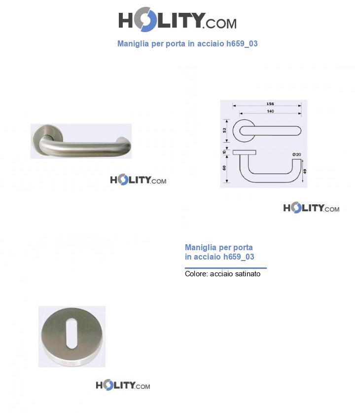 Maniglia per porta in acciaio h659_03