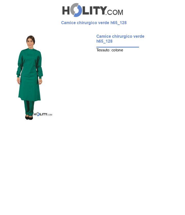 Camice chirurgico verde h65_128