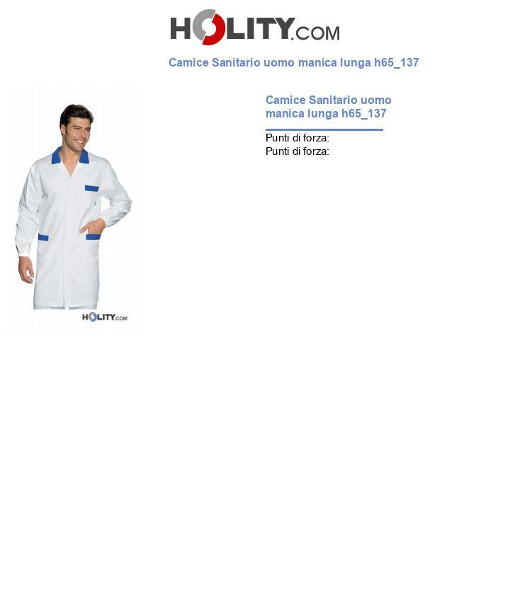 Camice Sanitario uomo manica lunga h65_137