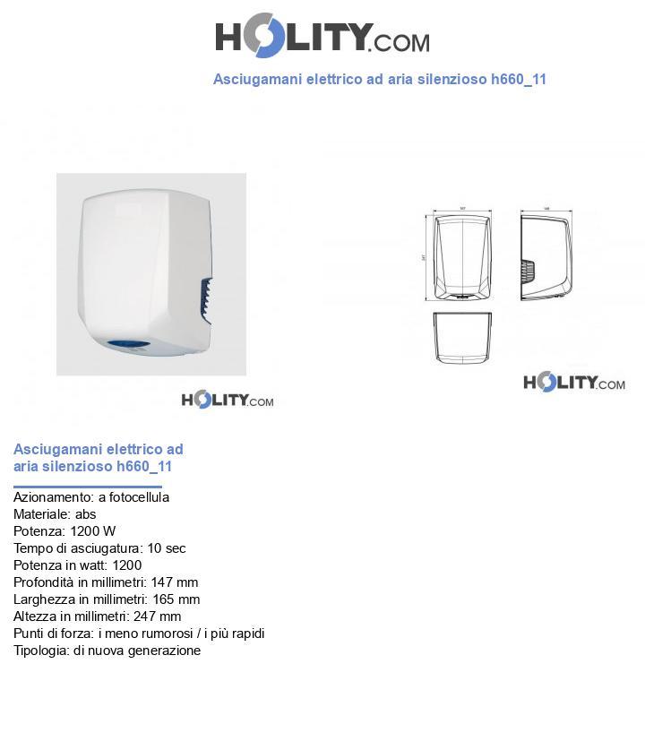 Asciugamani elettrico ad aria silenzioso h660_11