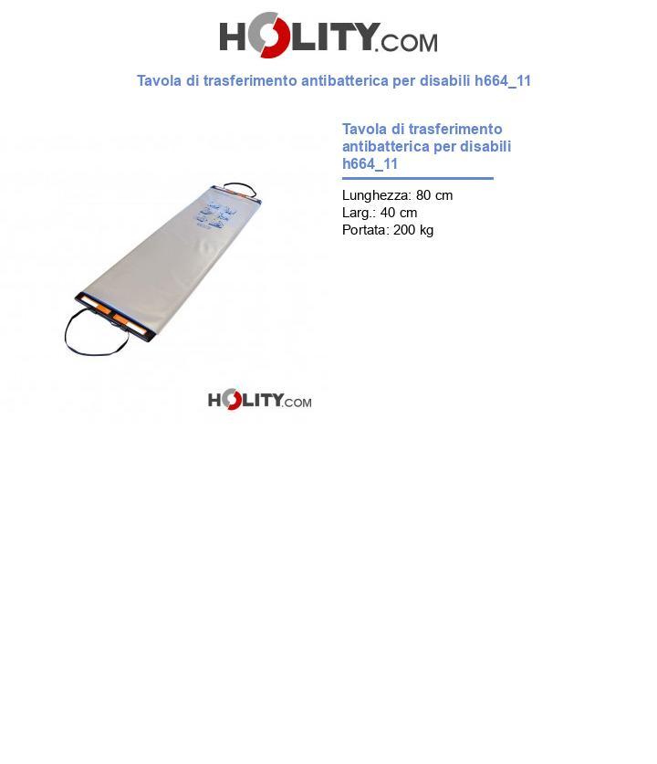 Tavola di trasferimento antibatterica per disabili h664_11