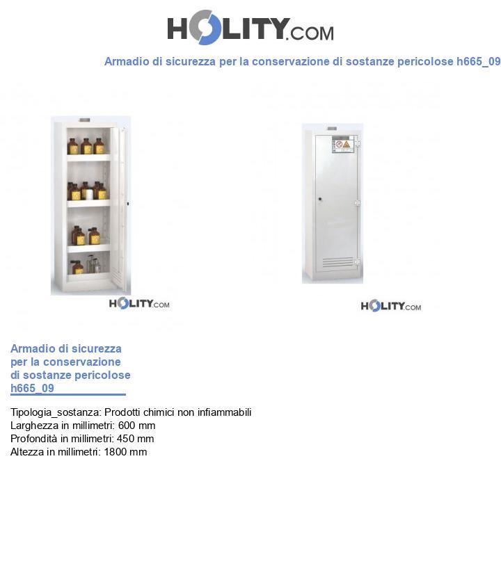 Armadio di sicurezza per la conservazione di sostanze pericolose h665_09