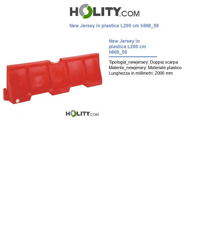 New Jersey in plastica L200 cm h668_08