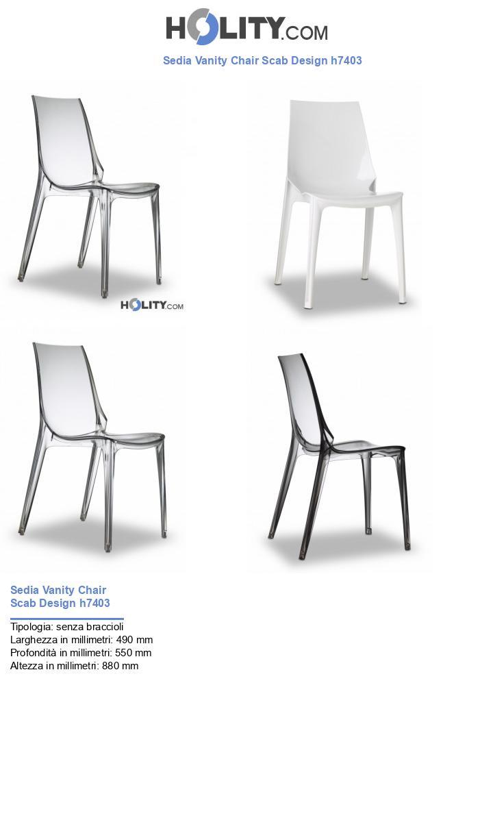 Sedia Vanity Chair Scab Design h7403