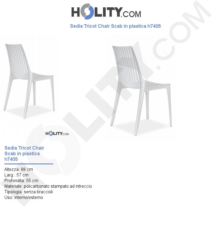 Sedia Tricot Chair Scab in plastica h7405