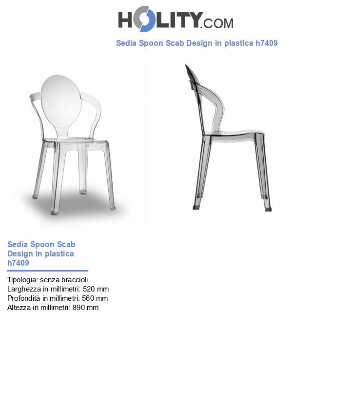 Sedia Spoon Scab Design in plastica h7409